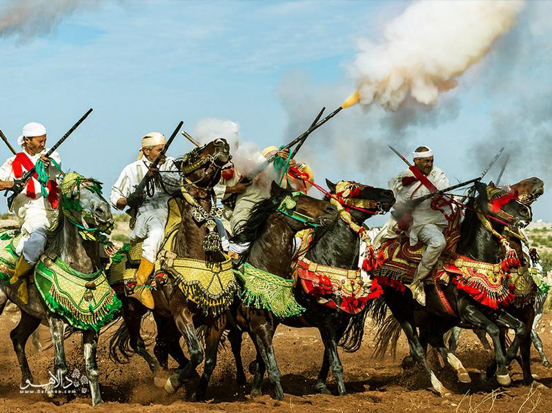 یکی از بزرگترین فستیوالهای مراکشی در مقبرههای اهل صوفیه برگزار میشود.
