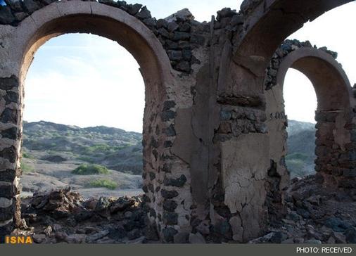 ویرانههای تاریخی نزدیک معدن نمک
