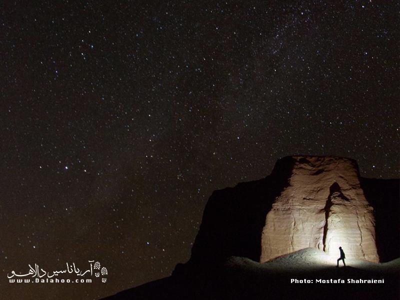 آسمان پر ستاره کلوتها شگفتانگیز است.