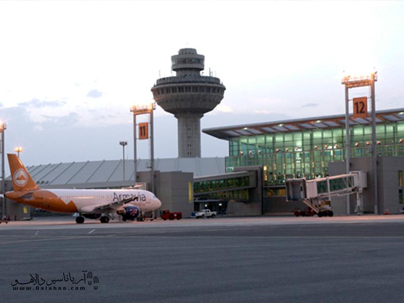 فرودگاه زوارتنوتس، در ایروان.