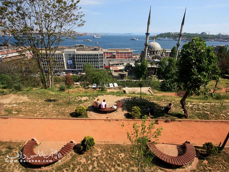 چشمانداز زیبایی از استانبول در پارک جهانگیر.