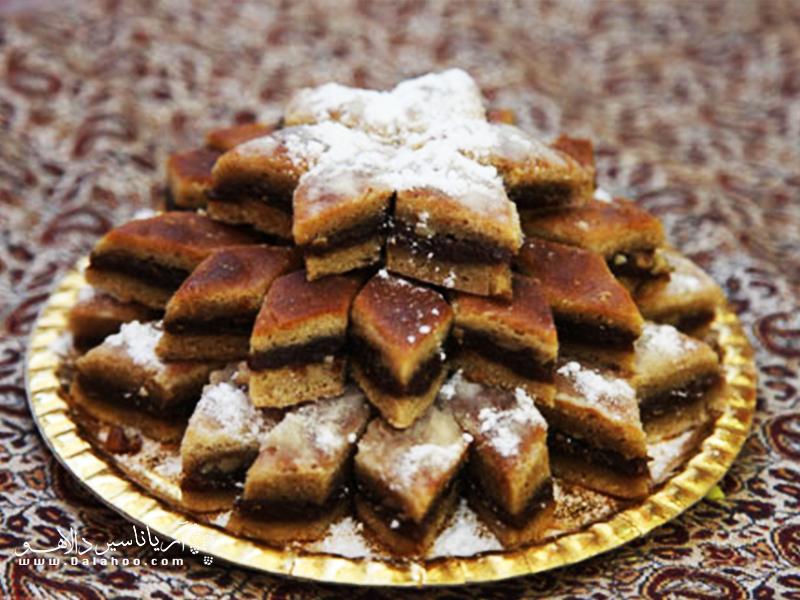 کماچ سهن، از شیرینیهای خوشمزه و مقوی کرمان است.