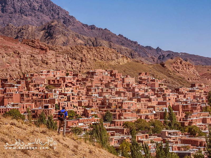 شهرت روستای ابیانه بیشتر به خانههای خشت و گلی و پلهای آن است.