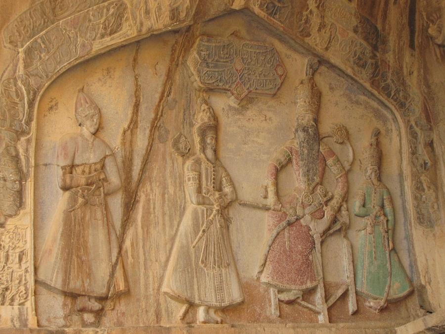 طاق بستان - سنگ نگاره دوره قاجار