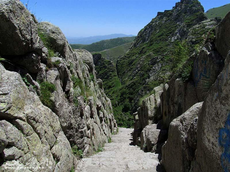 قلعه بابک در منطقه ارسباران آذربایجان شرقی