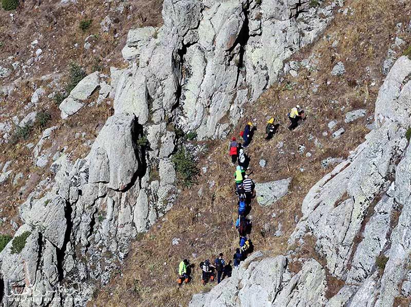 مسیر پاکوب برای رسیدن به قلعه بابک