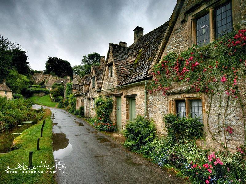 شهر بایبِری را زیباترین شهر انگلستان میدانند.