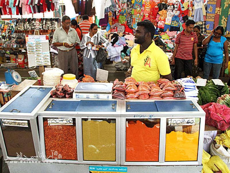 ادویه فروشیهای بازار کُلُمبو.