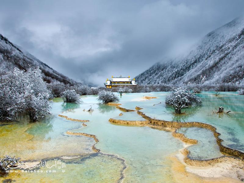 هوانگلانگ در کوهستان مینشان واقع و به عنوان میراث جهانی در یونسکو به ثبت رسیده است.