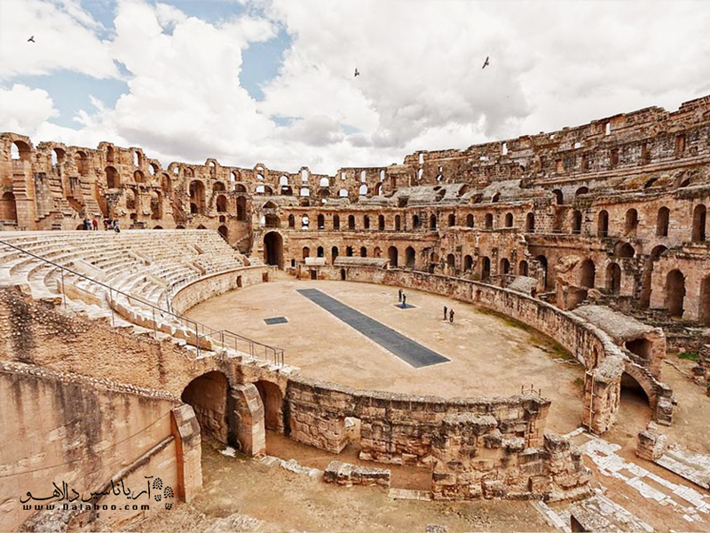 کلوسئوم ال جم بهترین نشانه برای درک تمدن رومی در آفریقاست.