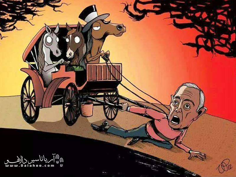 با دیدن این کاریکاتور آیا هنوزم حاضرید از درشکههای اسب استفاده کنید؟