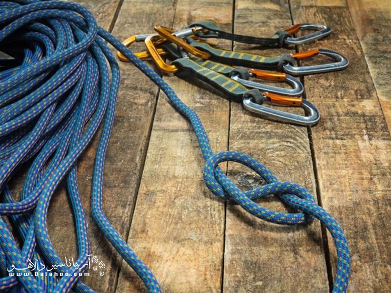 انواع گره در طنابهای کوهنوردی.