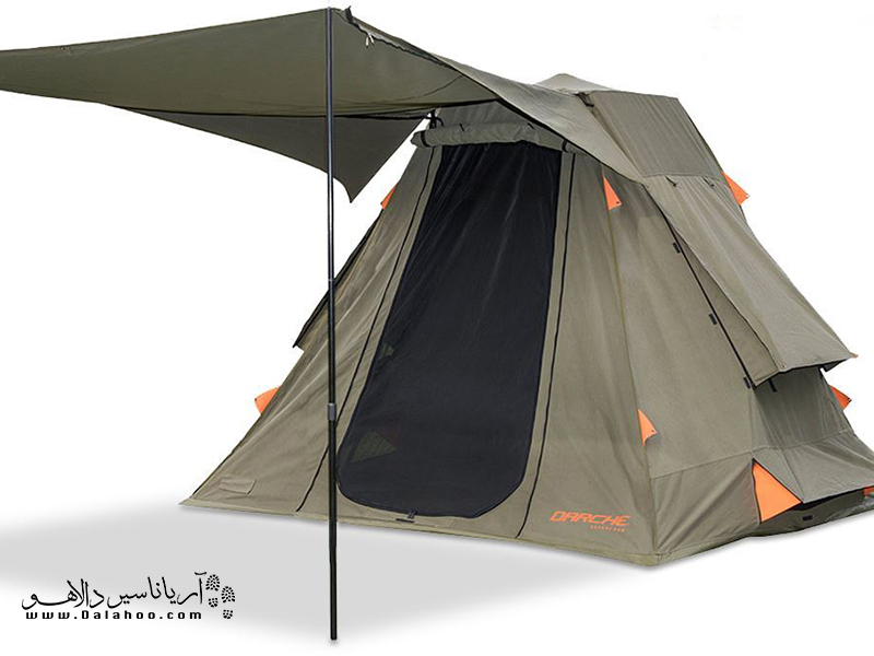 این چادرها دارای قسمت دالان مانند خارجی جهت استفاده از سایهبان و انجام آشپزی هستند.