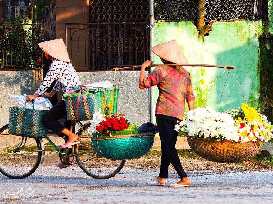گلفروش های شهر هانوی