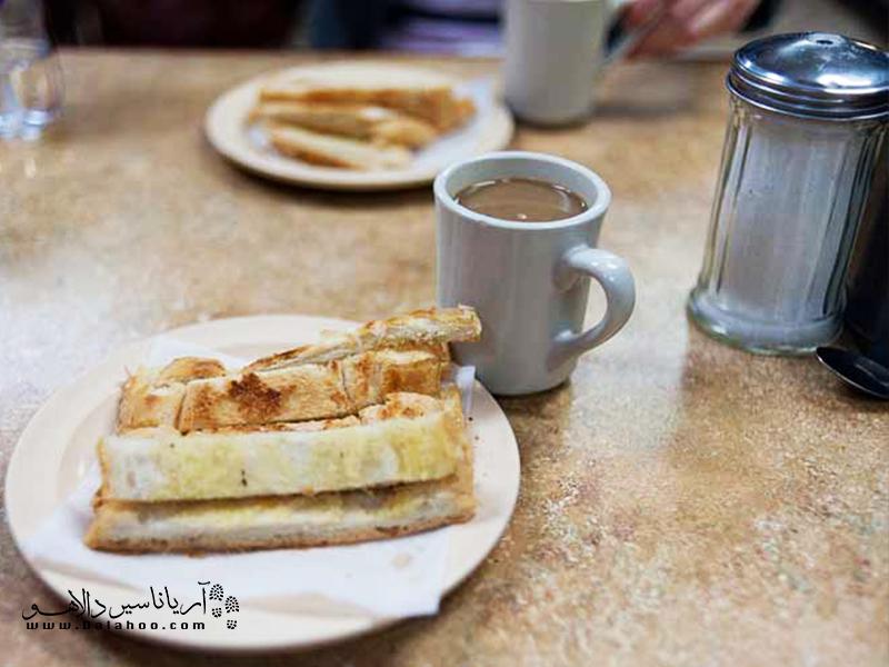 نان سوخاری با کره در کوبا بسیار محبوب است.