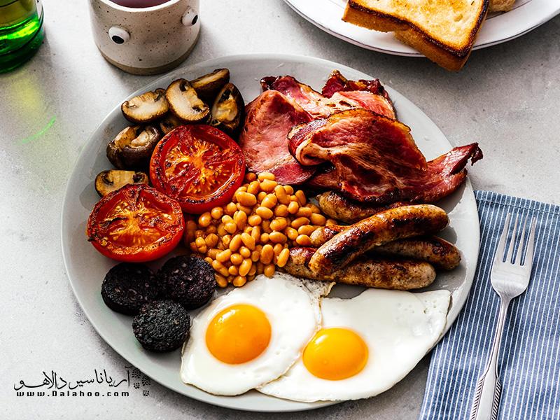صبحانه معروف انگلیسیها.