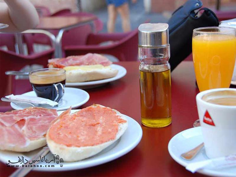 غذای محلی اسپانیاییها.