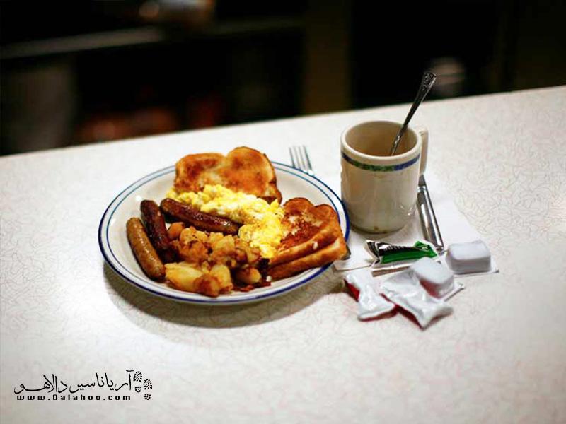 آنچه آمریکاییها در وعده صبحانه مصرف میکنند.