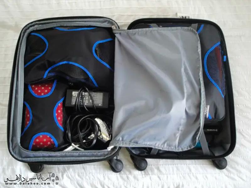 مکعبهای بستهبندی برای مرتب کردن وسایل در چمدان مفیدند.
