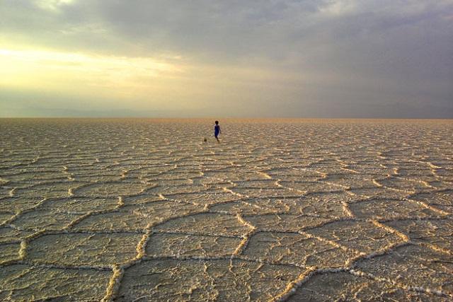 تشکیل دریاچه نمک