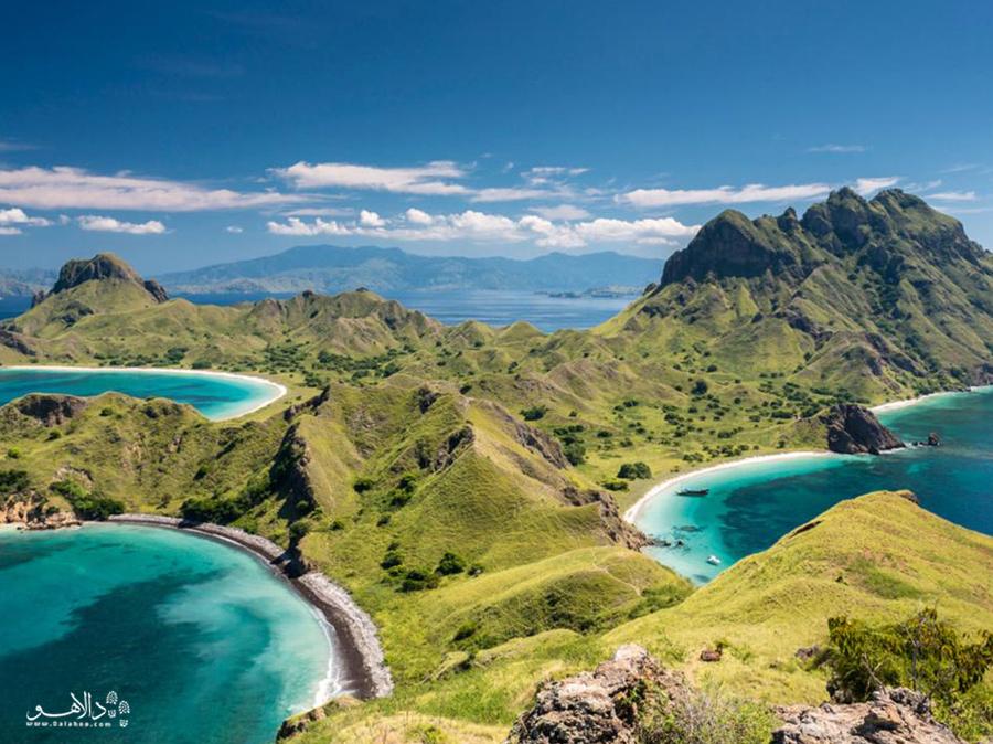 جزیرهی کومودو اندونزی یکی از زیباترین و اسرارآمیزترین جزایر دنیاست.