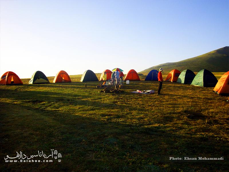 تجربه کمپ در تورهای مازیچال دالاهو.