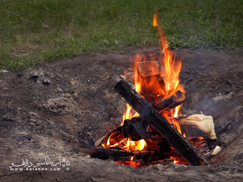 جایی آتش روشن کنید که قبلا آنجا روشن کردند و مکان جدیدی را تخریب نکنیم