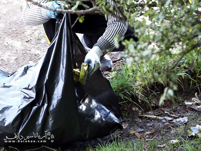نریختن زباله در طبیعت و بازگرداندن آن وظیفه ما به شمار میرود.