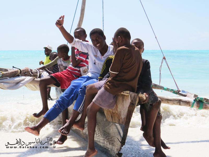 شادی، خنده و هیجان کودکان افریقایی در زنگبار.