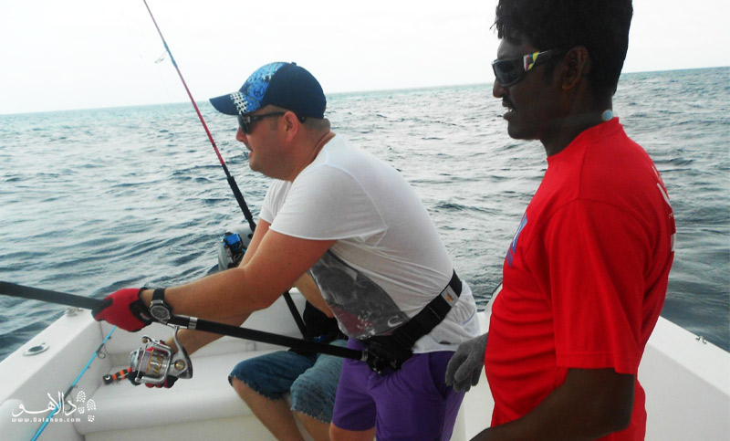 ماهیگیری آماتور در مالدیو