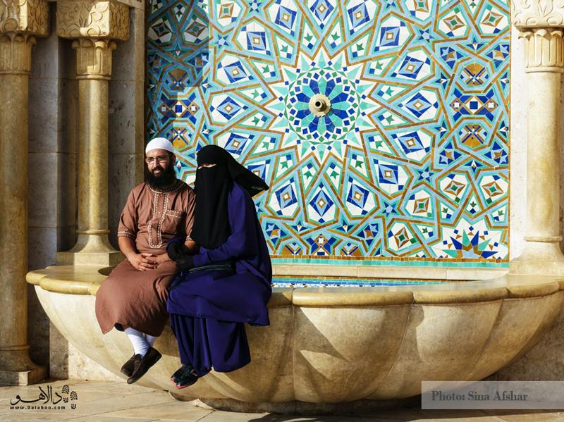 مسجد حسن دوم در کازابلانکا با کاشیکاریهای خوشرنگ و نقوش جذاب