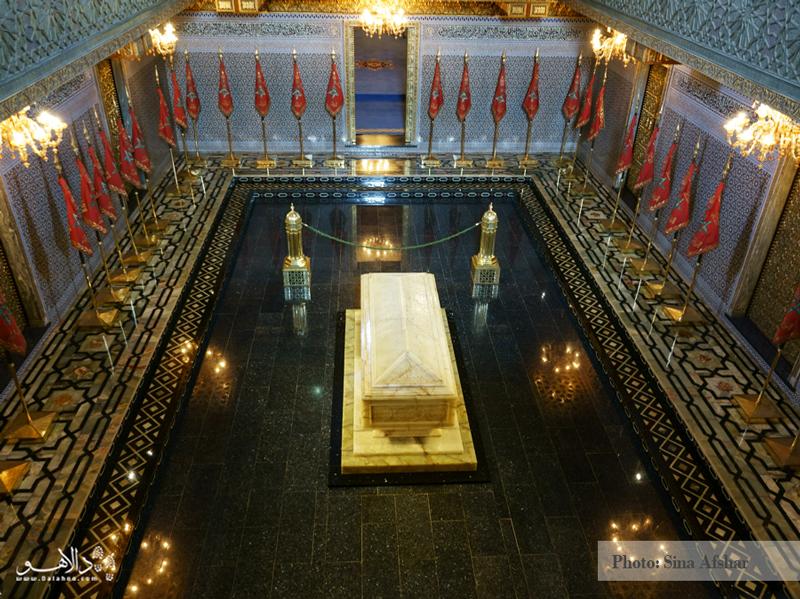 اینجا مقبره محمد پنجم پادشاه مراکش است.