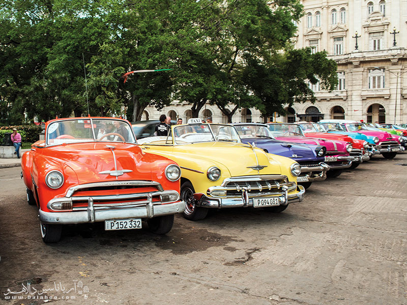توریستها میتوانند این اتومبیلها را کرایه و در سطح شهر تفریح کنند.