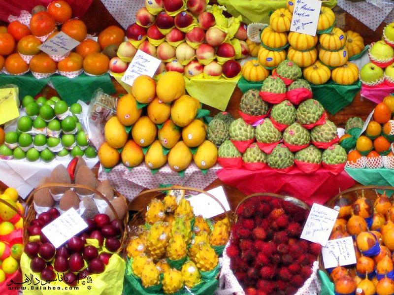 انواع میوههای استوایی در برزیل یافت میشود.