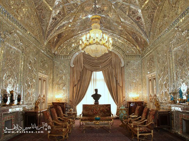 نمایی از یکی از اتاقهای مجموعه سعد آباد.