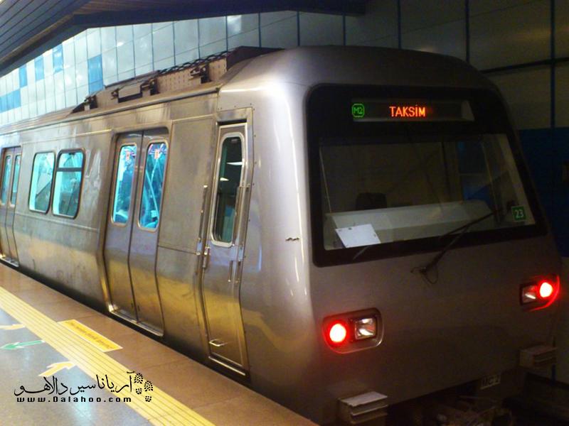 مترو در استانبول.
