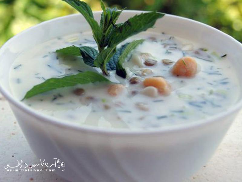 امروزه آش دوغ در سراسر ایران طبخ میشود؛ اما اصالت این آش به اردبیل باز میگردد.