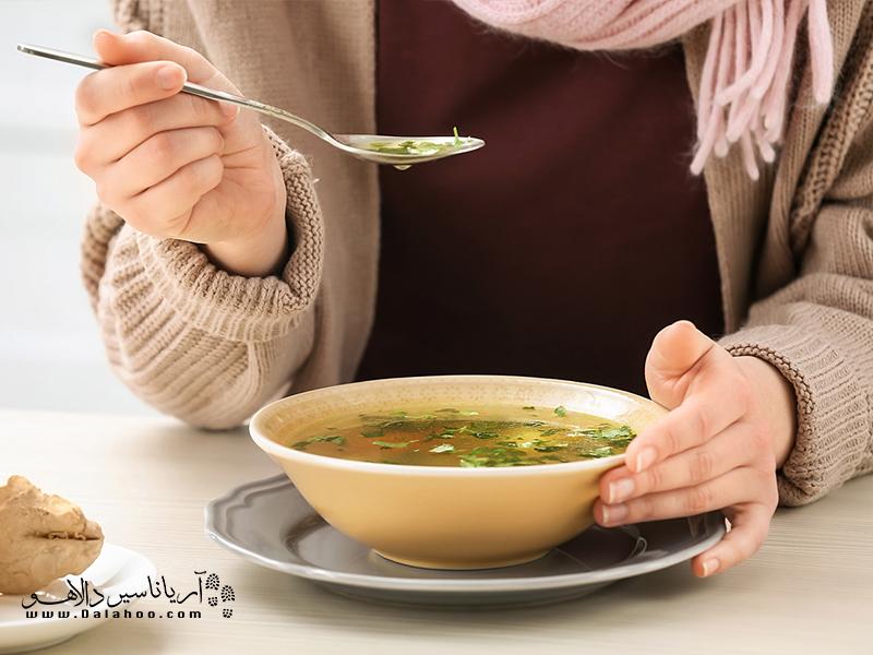 آداب سوپ خوردن در آمریکا.