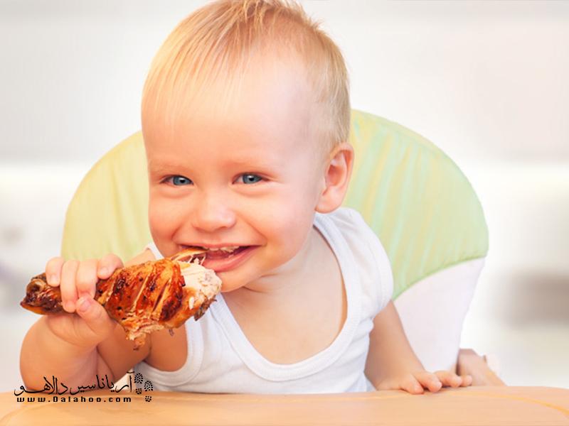 مرغ خوردن در جامائیکا برای کودکان.