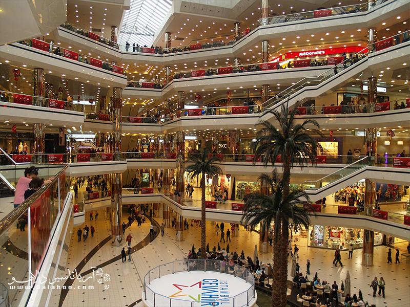 مراکز خرید در استانبول متنوع است.
