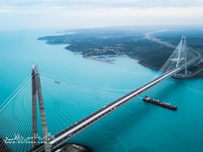 پل یاوز سلطان سلیم در قسمت اروپایی بین ساری یِری گریپچه و در سمت آسیایی در محله بیکوز قرار دارد.