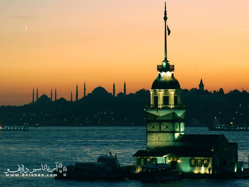 استانبول از طریق تنگه بسفروس اروپا را به آسیا متصل میکند.