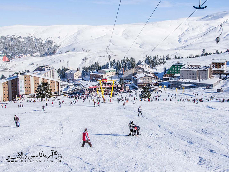 مهمترن دلیلی که گردشگران راهی الوداغ میشوند اسکی است.