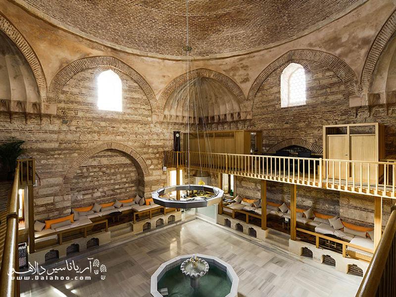 نمای داخلی حمام علی پاشا.