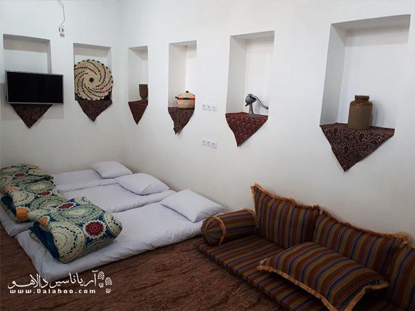 فضای داخلی اتاقهای اقامتگاه مان همیشه سبز.