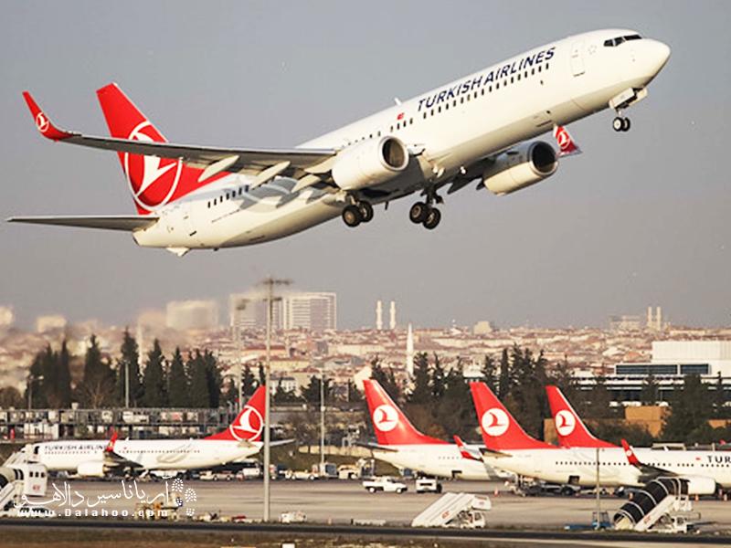 ترکیش ایرلاین به فرودگاه استانبول و صبیحا گوگچن پرواز دارد.