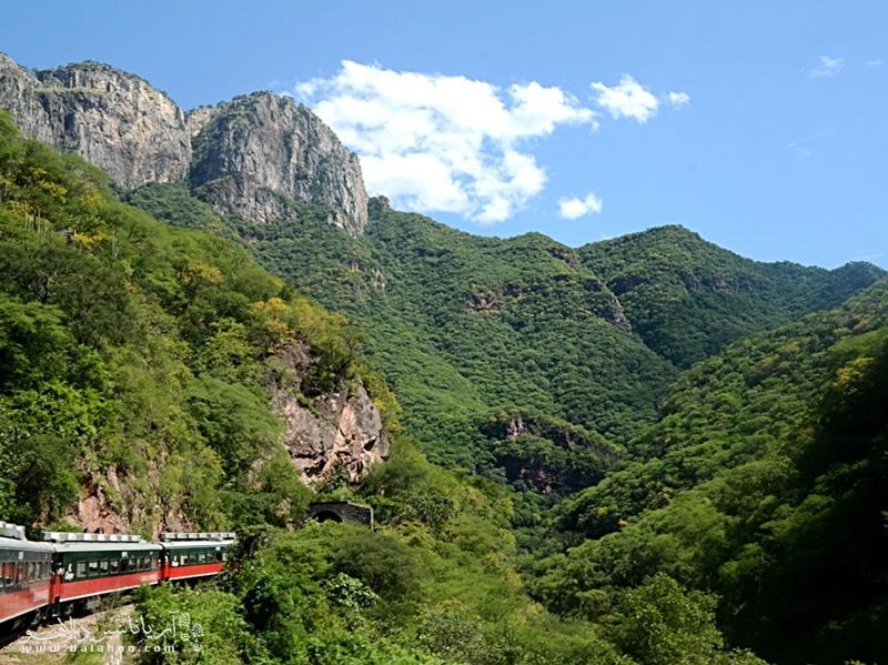 با قطار به دل این طبیعت زیبا بروید و از مناظر بکر آن لذت ببرید.