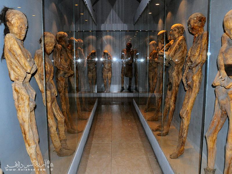 در موزه مومیایی مکزیک کمی ترس را در سفر خود تجربه کنید.