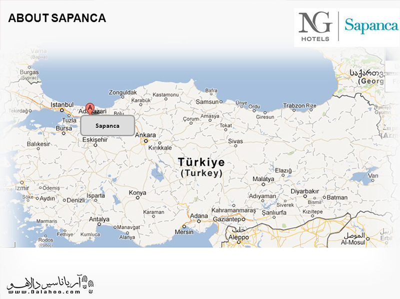 ساپانجا در شرق شهر استانبول واقع شده است.